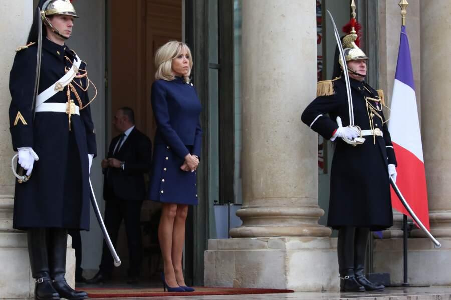 Brigitte Macron et Melania Trump à l'Elysée le samedi 10 novembre 2018
