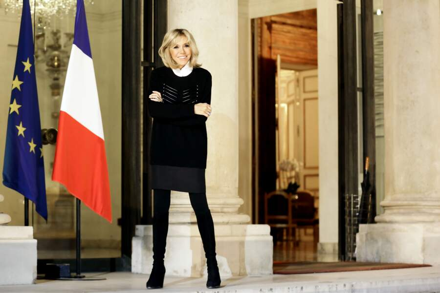La Première dame Brigitte Macron à l'Elysée, le 20 novembre 2017