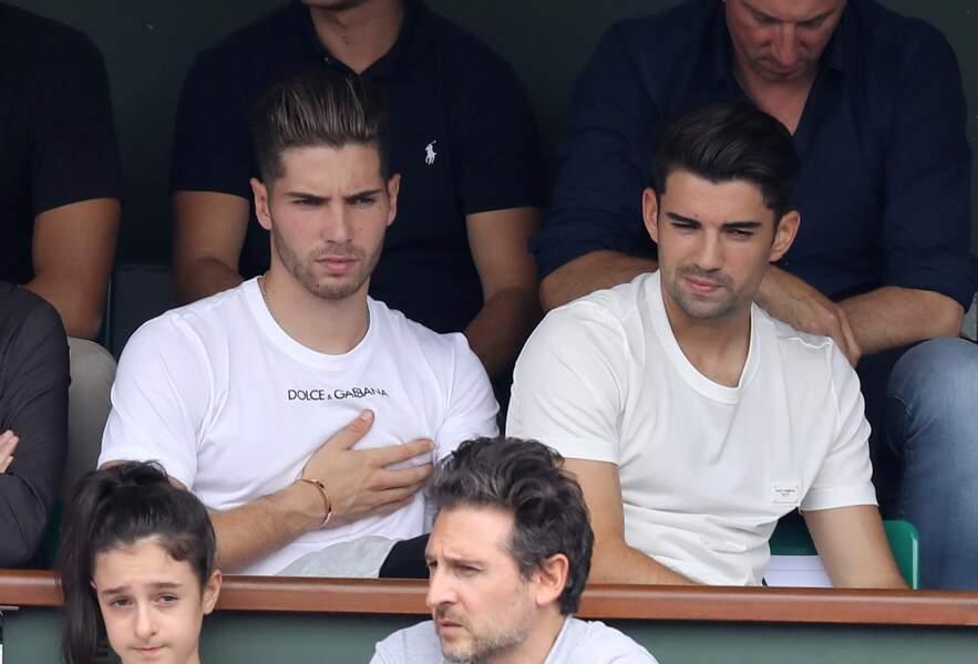 Luca et Enzo Zidane à Roland Garros le 10 juin 2018