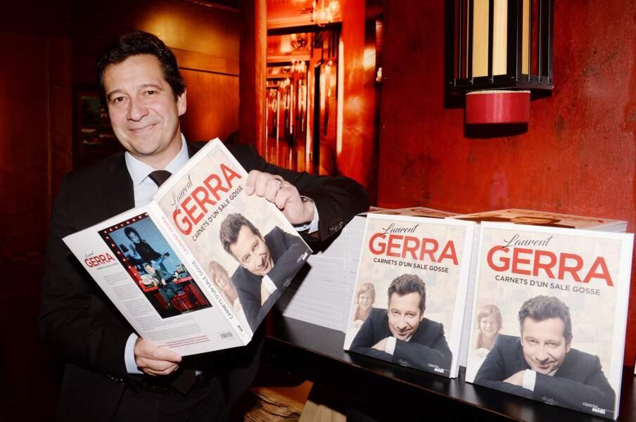 """Laurent Gerra pour le lancement son livre de Laurent Gerra """"Carnets d'un sale gosse"""" le 9 octobre 2017"""