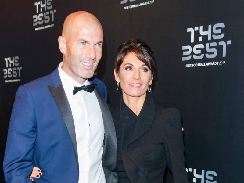 Zinédine Zidane et sa femme Véronique aux FIFA Football Awards 2017 à Londres, le 23 octobre 2017