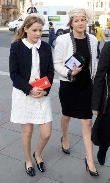 Margarita Armstrong Jones, 15 ans, et sa mère Serena comtesse de Snowdon à l'Abbaye de Westminster en avril 2017