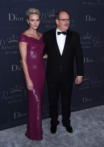 """Albert II de Monaco et Charlène de Monaco était au gala """"Princess Grace Awards 2017"""" à Los Angeles, le 25 octobre"""