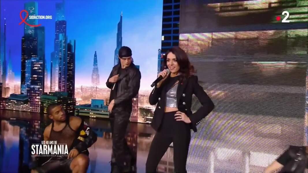 "Sofia Essaïdi était venue interpréter ""Travesti"", extrait de la comédie musicale Starmania."