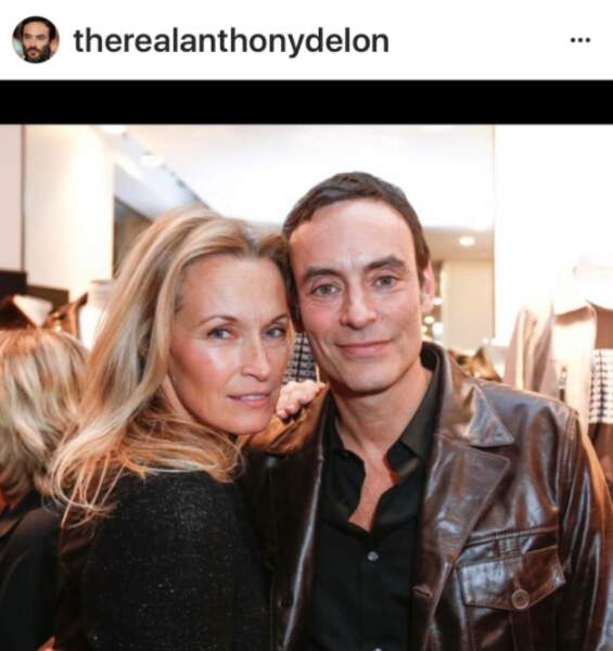 Estelle Lefébure et Anthony Delon