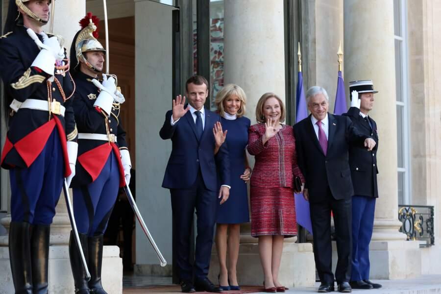 Brigitte Macron semble toujours très complice avec les autres premières dames comme la femme du président du Chili