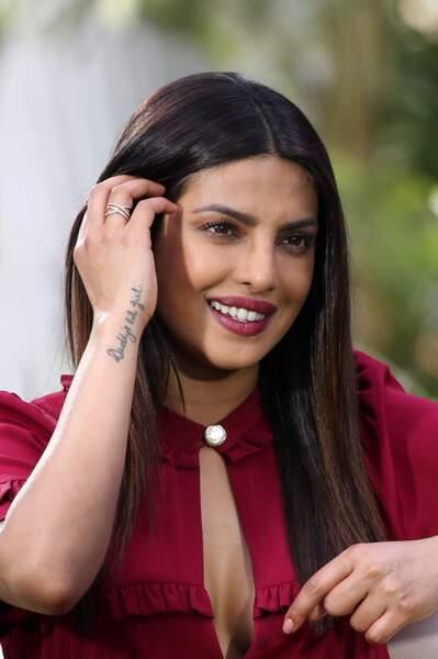 Priyanka Chopra préfère le tatouage avec des mots symboliques