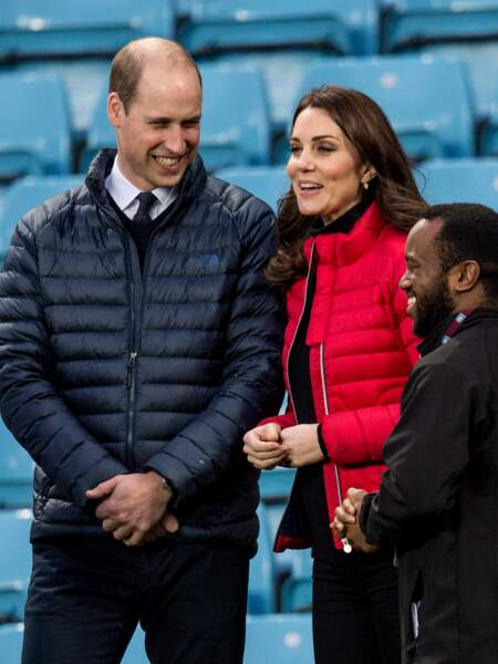 Kate Middleton et William portent une doudoune Perfect Moment, l'une des marques de sport favorites de Lady Di