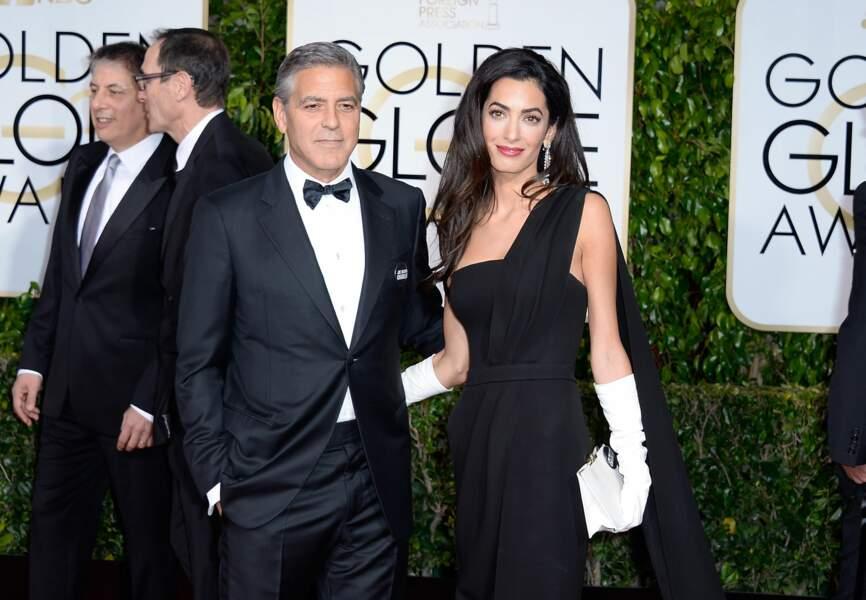 George Clooney et Amal Alamuddin, duo de charme des Golden Globes