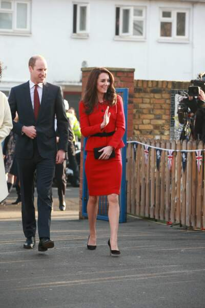 La duchesse de Cambridge avec son époux le prince William