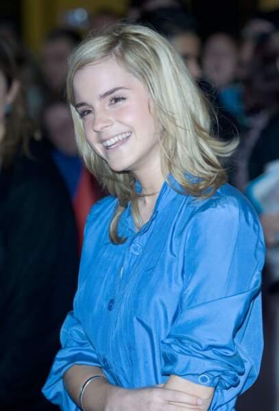 Emma Watson blonde platine en 2007