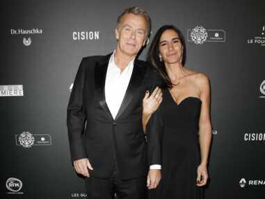 Franck Dubosc très élégant avec sa femme lors de la cérémonie des Globes de Cristal