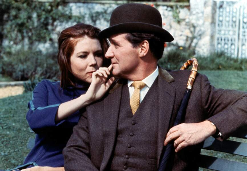 Patrick MacNee et Diana Rigg complices