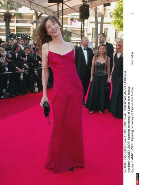 Jane Birkin au Festival de Cannes en 2002