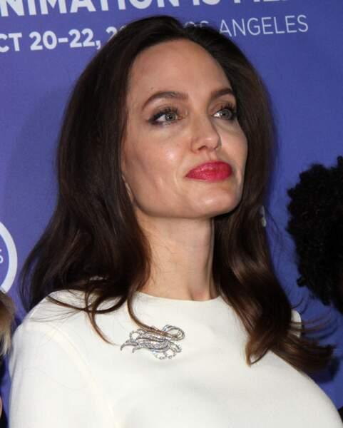 Angelina Jolie, radieuse, à l'avant-première de The Breadwinner, le 20 octobre 2017