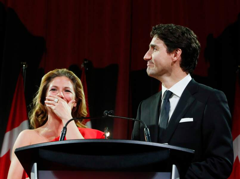 Justin Trudeau complice avec sa femme
