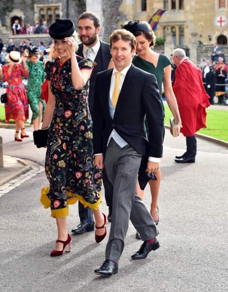 Le chanteur James Blunt au mariage d'Eugénie d'York, au château de Windsor, le 12 octobre 2018