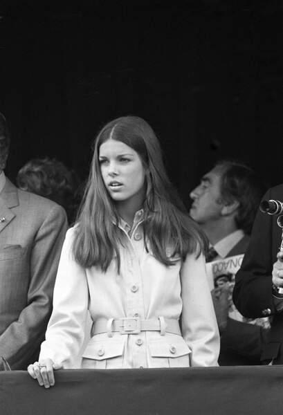 La princesse Caroline lors du Grand Prix de Formule 1 de Monaco, en 1971