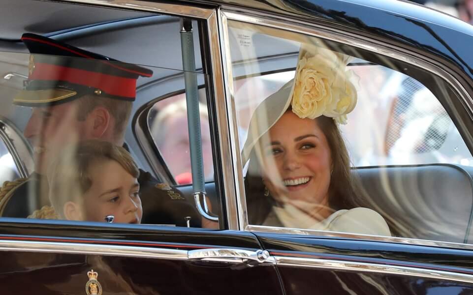 Le prince George de Cambridge, Le prince William, duc de Cambridge, et Catherine (Kate) Middleton, duchesse de Camb