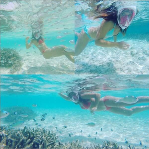 Laetitia a pu admirer les fonds marins des Maldives