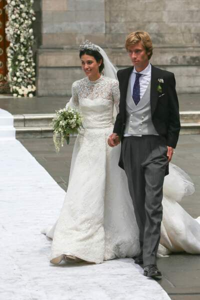 Christian de Hanovre épouse Alessandra de Osma (dans une robe Jorge Vazquéz) à Lima le 16 mars 2018