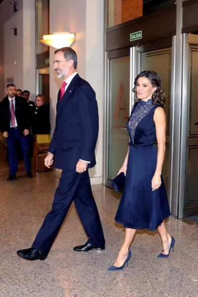 Felipe VI et Letizia d'Espagne à L'Auditorium National de Madrid, le 5 décembre 2018