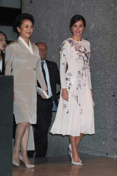 Letizia d'Espagne et Peng Liyuan, la première dame chinoise : deux styles d'élégance
