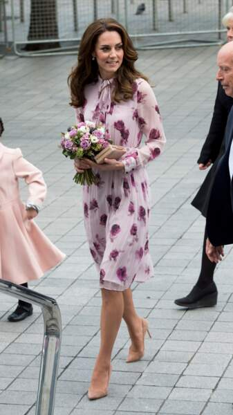 Kate Middleton lors de la Journée mondiale de la santé mentale à Londres le 10 octobre 2016