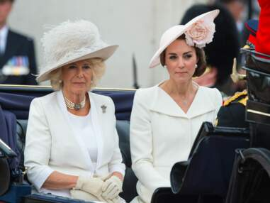 Autour d'Elizabeth II, toute la famille royale applaudit la parade Trooping The Colour