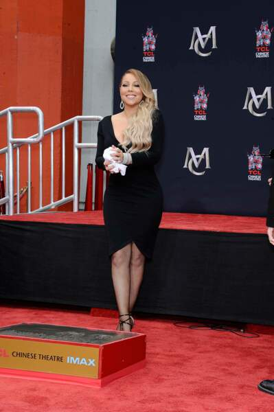 Mariah Carey au Chinese Theater à Hollywood, à Los Angeles, le 1er novembre 2017