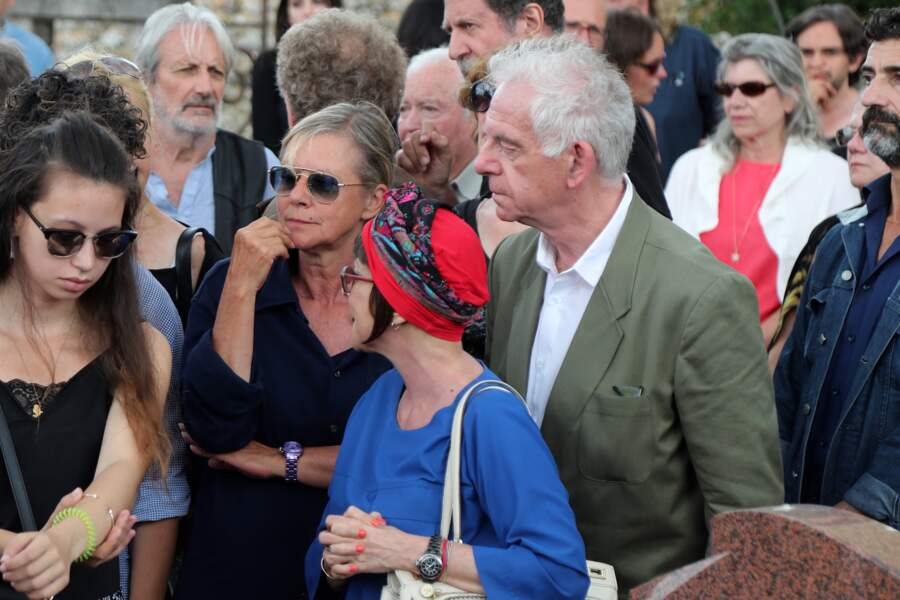 L'équipe du Club Dorothée aux obsèques de François Corbier au cimetière de Serez, le 5 juillet 2018.