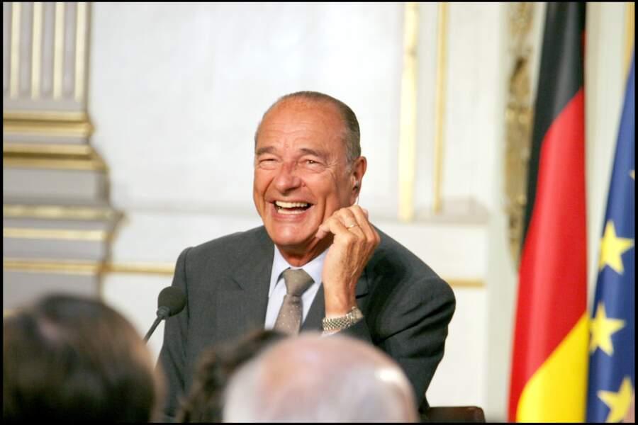 Fou rire de Jacques Chirac