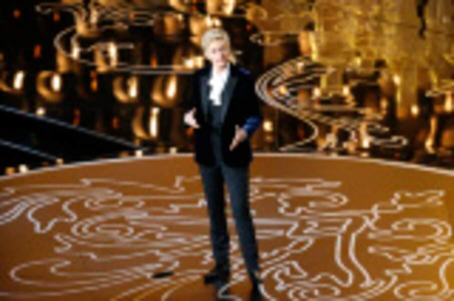 Ellen DeGeneres lors de la 86e cérémonie des Oscars