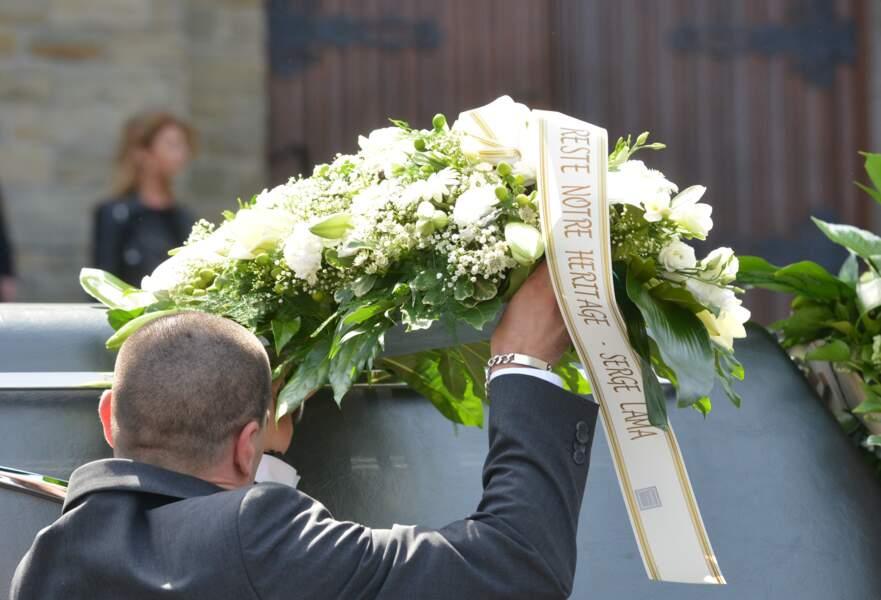 Les fleurs offertes par Serge Lama