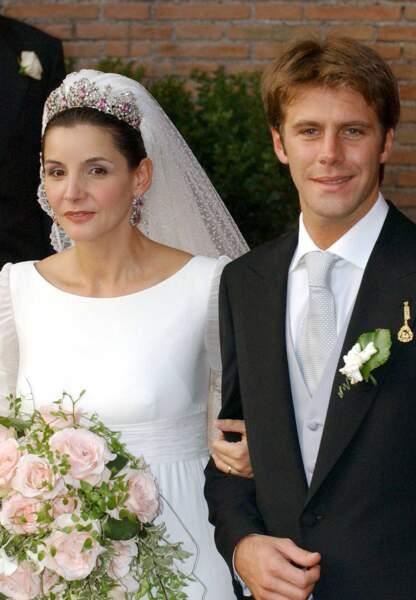 Clotilde Courau et Emmanuel-Philibert de Savoie lors de leur mariage en 2003