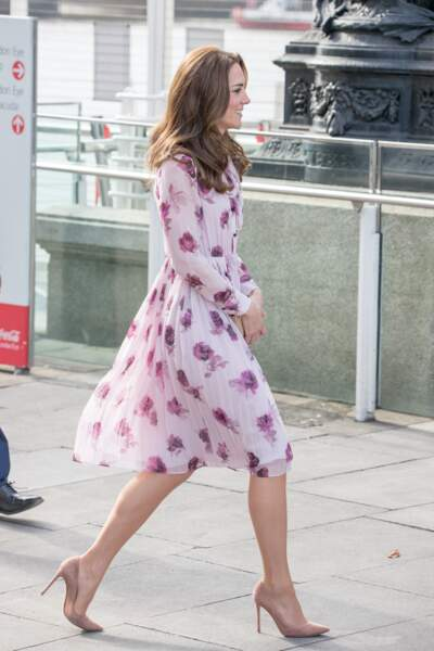Kate Middleton arrive au London Eye à l'occasion de la journée mondiale de la santé mentale, le 10 octobre 2016