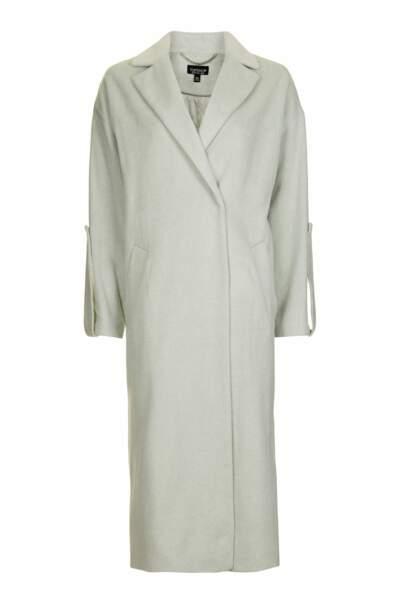 Long manteau avec pattes de boutonnage, Topshop - 110€