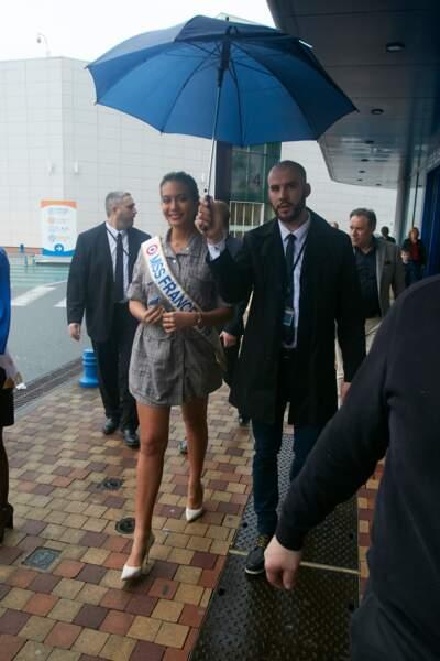 Vaimalama Chaves, Miss France 2019, a été accueillie par près de 300 fans à Trélissac