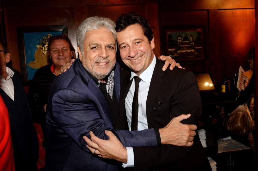 Laurent Gerra et Enrico Macias au Buddha-Bar à Paris, le 9 octobre 2017