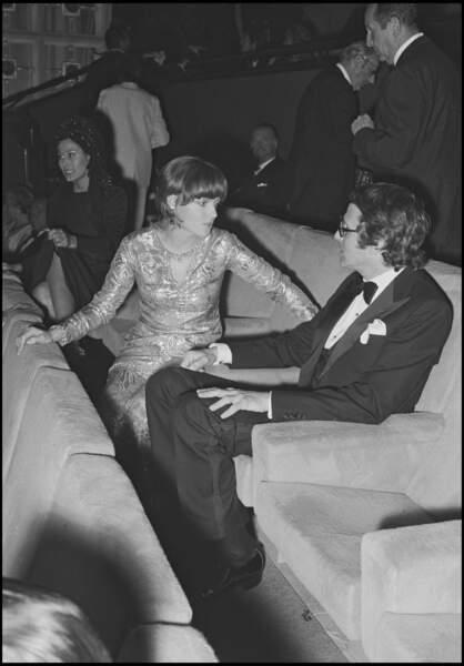 Romy Schneider et Harry Meyen au Festival de Cannes en 1971