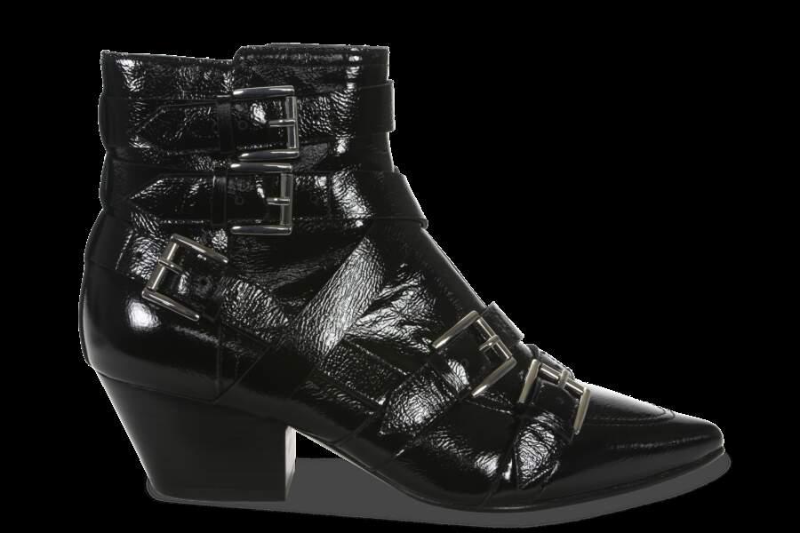 Ash LA paire de boots d'Emily modèle chelsea en cuir Automne / hiver 2017-2018 - soldées 123€ au lieu de 245€