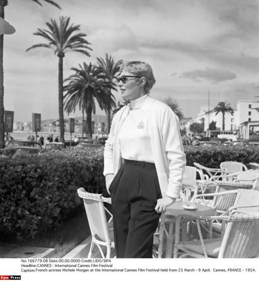 Michèle Morgan au festival de Cannes, en 1954