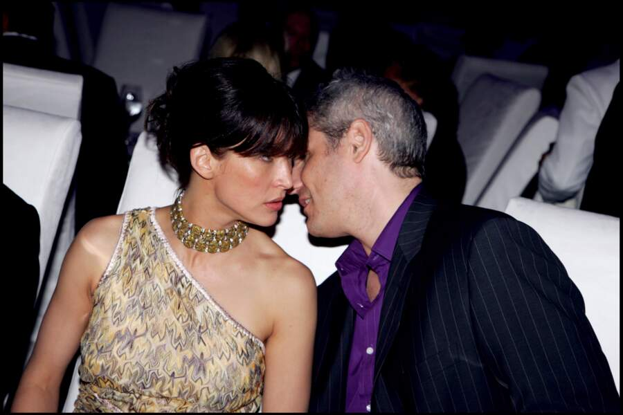Sophie Marceau en soirée à Cannes avec Jim Lemley en 2006.