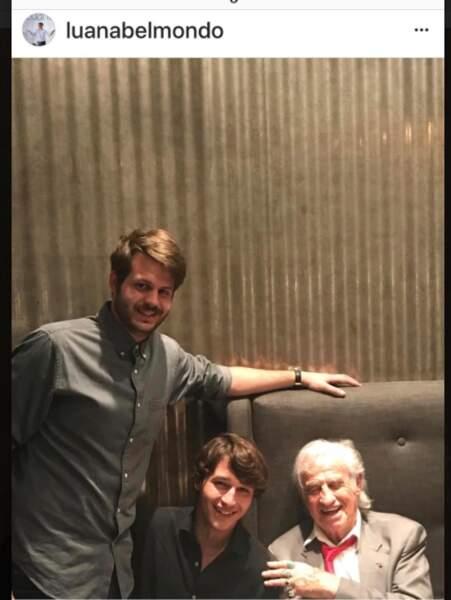 Jean-Paul Belmondo et 2 de ses petits-fils