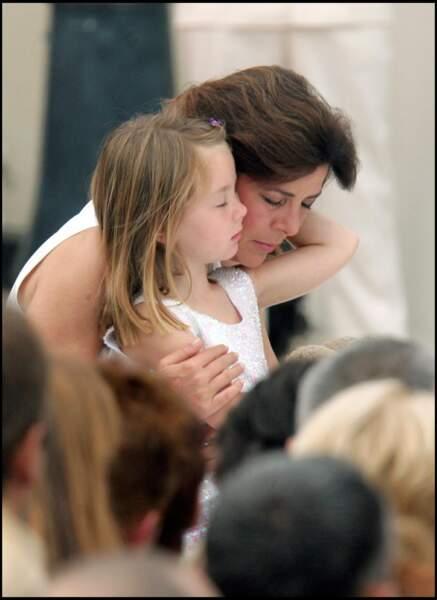 Alexandra de Hanovre et la princesse Caroline le 12 juillet 2005