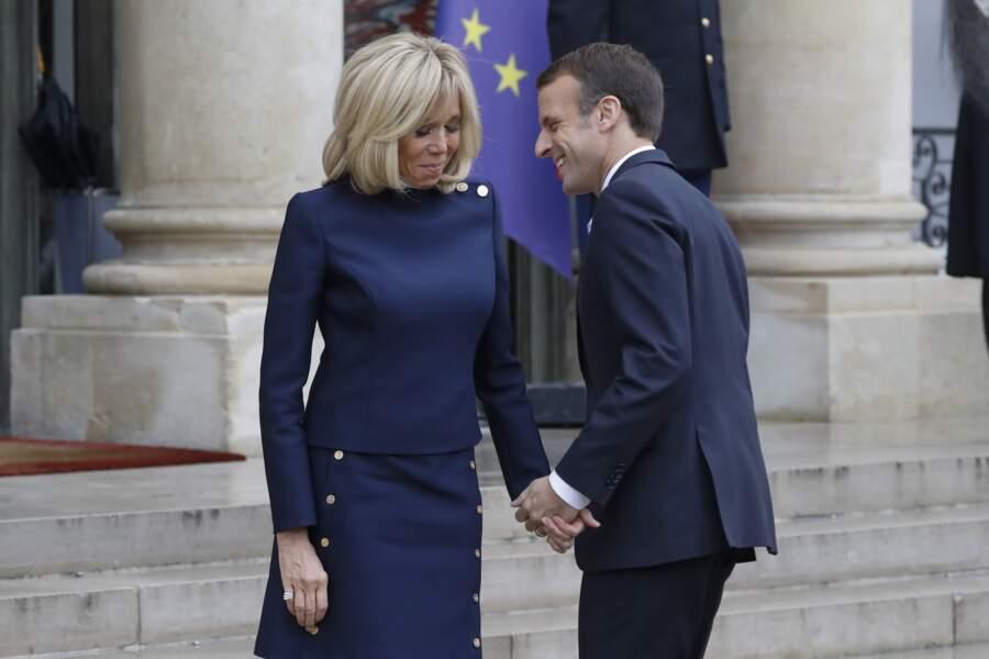 Brigitte Macron toujours présente pour soutenir son époux