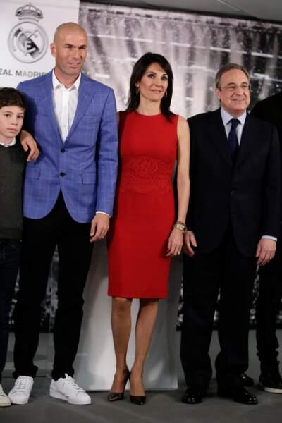 Zinédine Zidane et sa femme Véronique en 2015