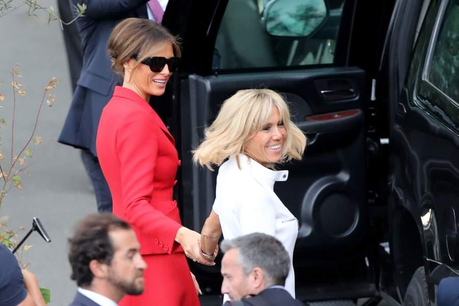 Melania Trump et Brigite Macron sont ensuite allées dîner à la Tour Eiffel