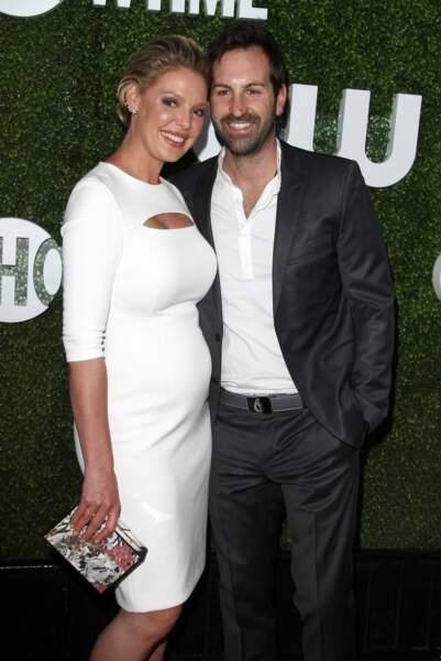 Katherine Heigl (enceinte) et son mari Josh Kelley  le 10 aout 2016