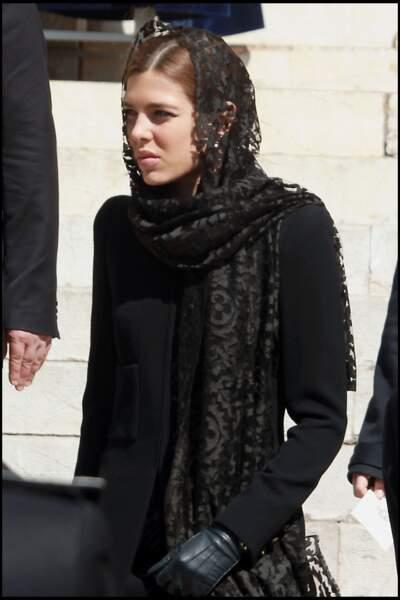 Aux obsèques de la princesse Antoinette de Monaco, en la Cathedrale de Monaco, le 17 mars 2011.